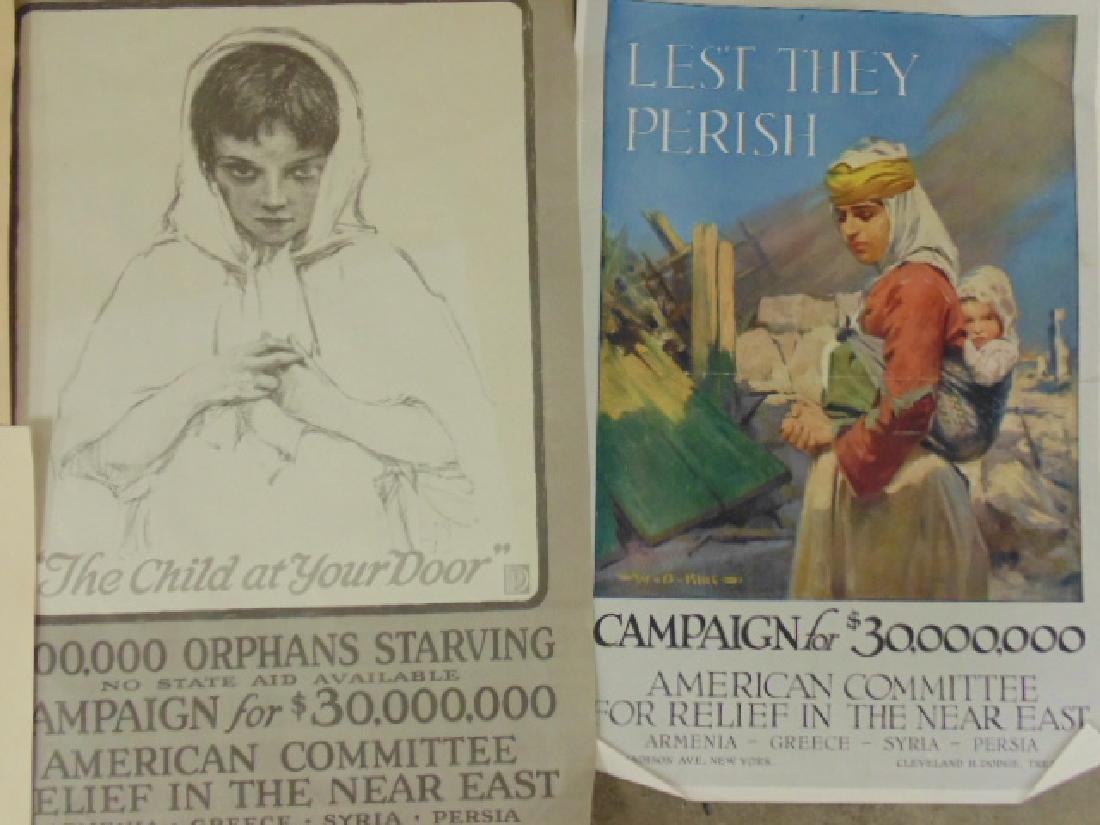 Lot unframed pamphlets & posters - 2