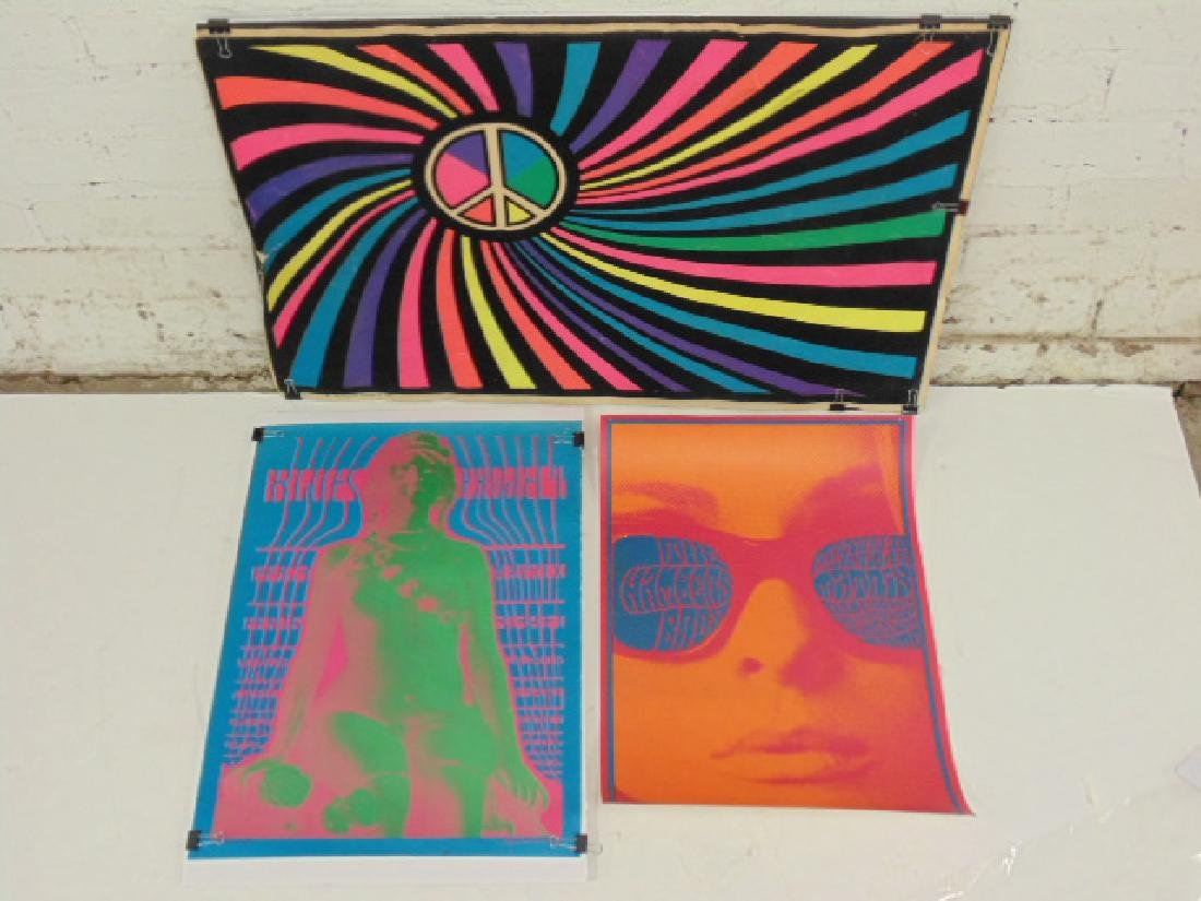3 pop art posters, 1960's by Victor Moscoso