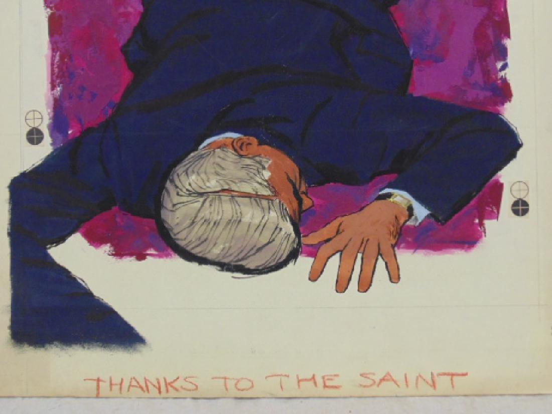 "Illustration, estate of Darrel Greene, ""Thanks to the - 4"