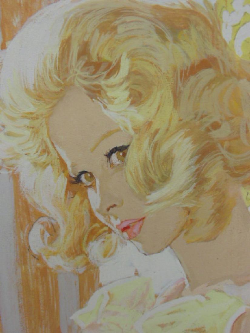 Illustration, estate of Darrel Greene, girl in negligee - 3