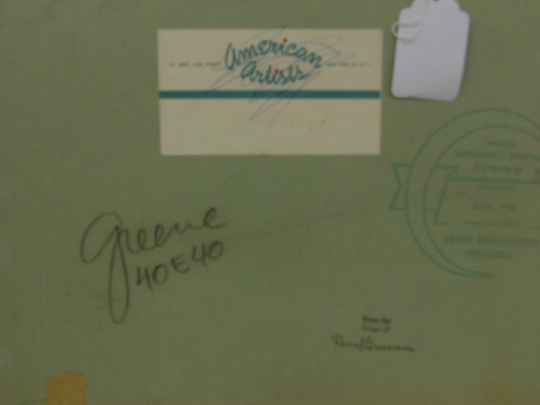 Illustration, estate of Darrel Greene, girl in negligee - 4