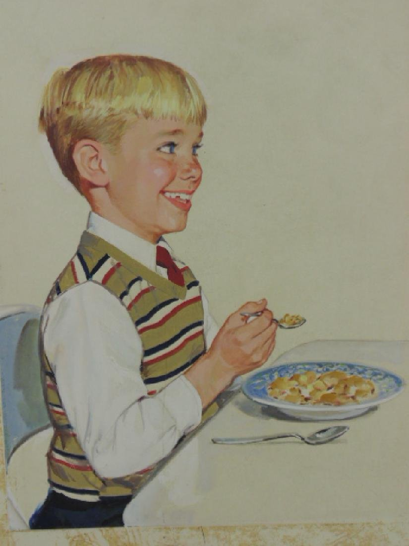 "Illustration, estate of Darrel Greene, ""Boy with - 2"