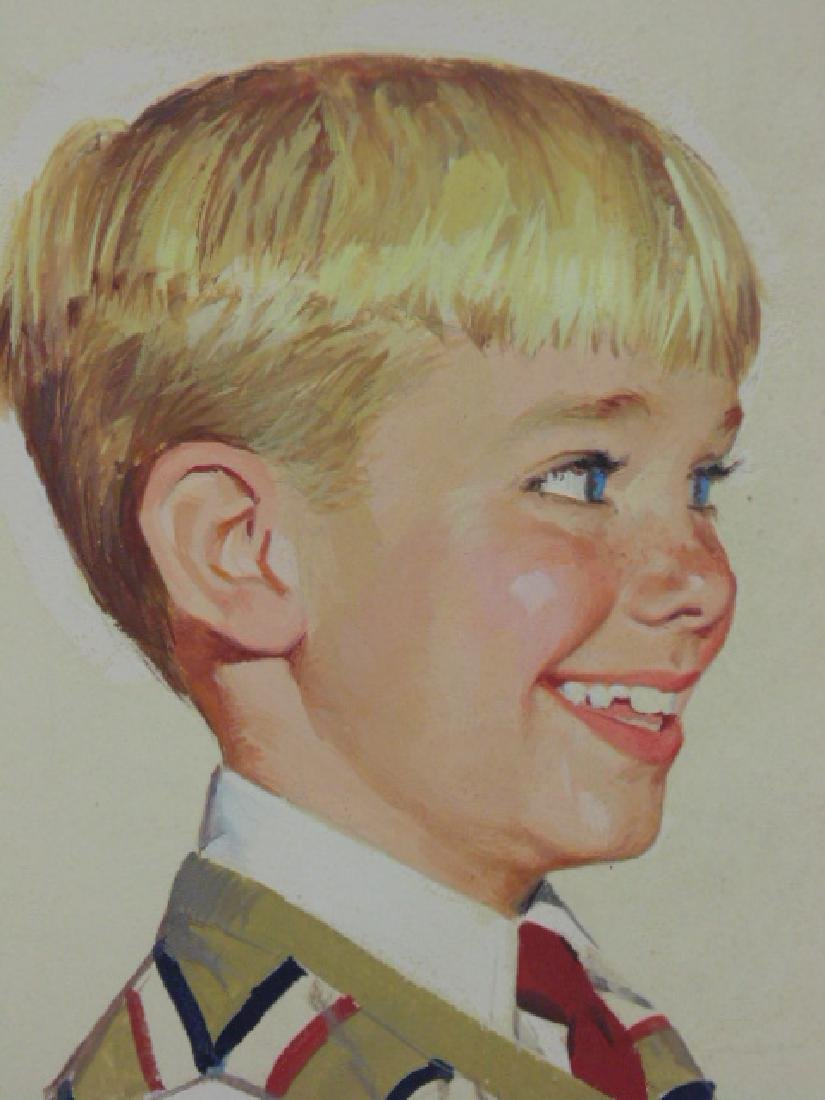 "Illustration, estate of Darrel Greene, ""Boy with - 3"