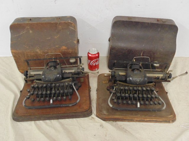 2 early typewriters by Blickensderfer, Stamford, CT,