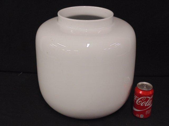 Large Asian white porcelain vase, signed on base
