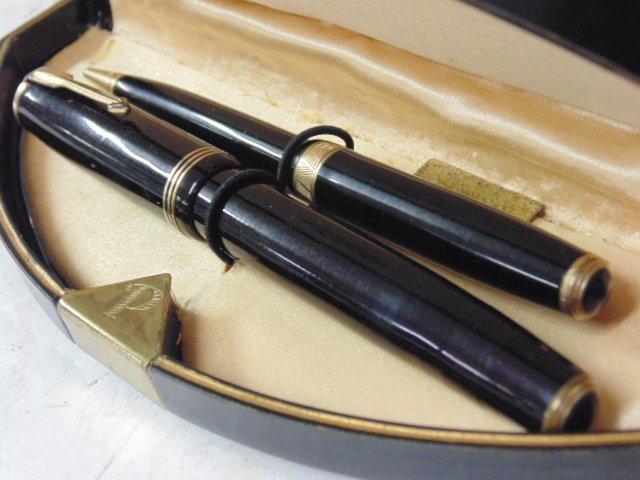 Vintage pen set, Parker Vacumatic, original case - 2