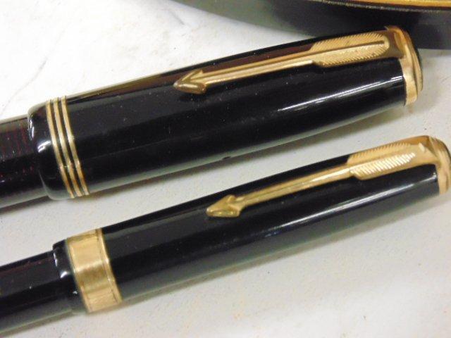 Vintage pen set, Parker Vacumatic, original case - 3
