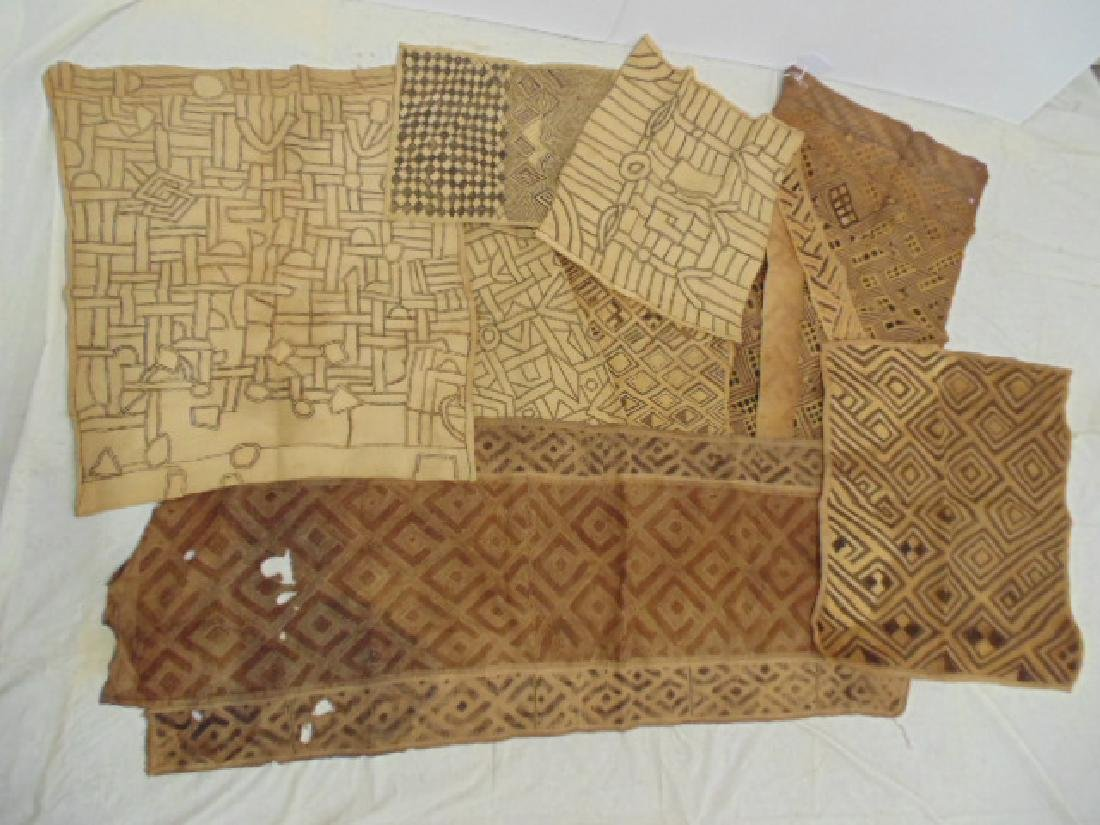 9 African tribal textiles, fabric panels