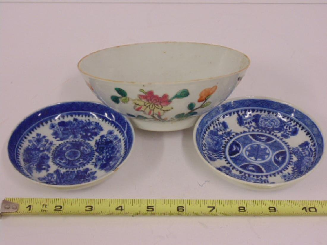 3 pieces Asian, Chinese porcelain