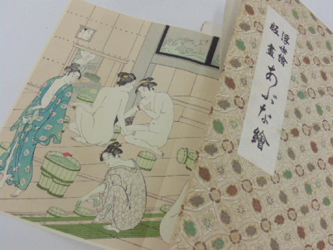 Book Japanese Ukiyoe erotic woodblock prints