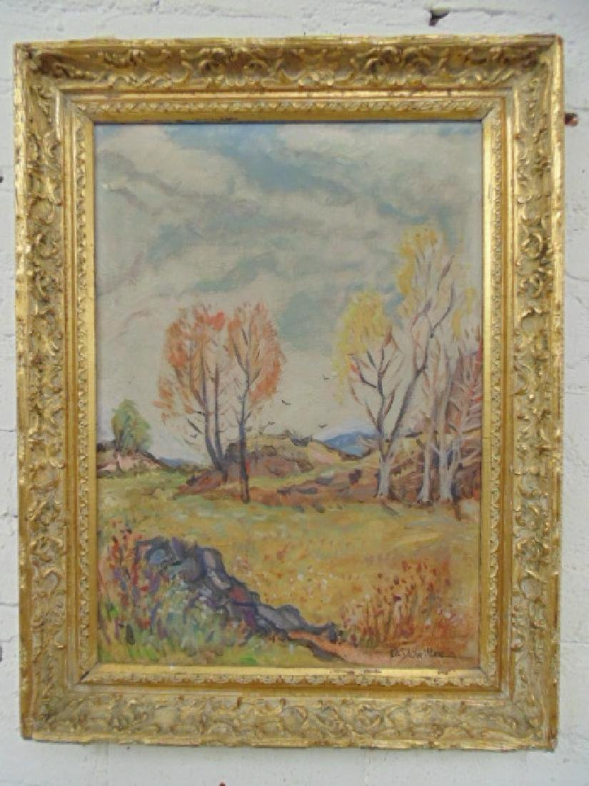 """Painting, """"April in Vermont"""" Frederick K. Detwiller"""