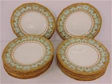 18 Royal Crown Derby porcelain dinner plates, for