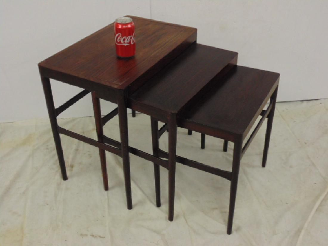 Rosewood, Danish modern mid Century stack tables