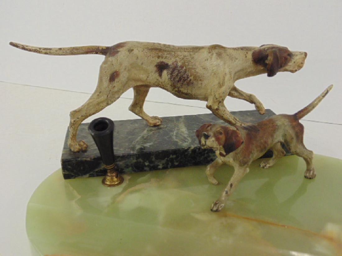 2 Vienna bronze cold painted dogs, Irish setter