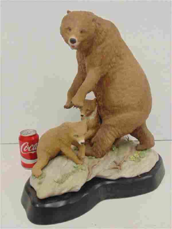 Cybis Studio ceramic bear sculpture