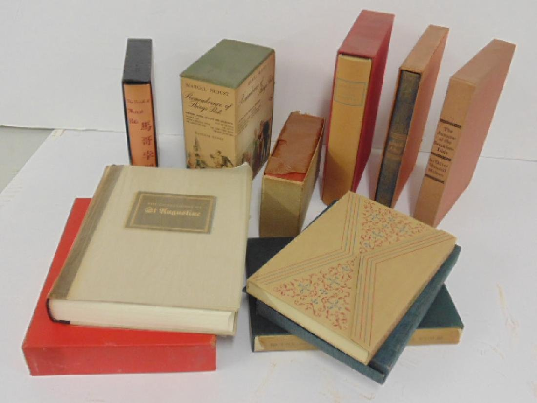 9 books from the Limited Editions club