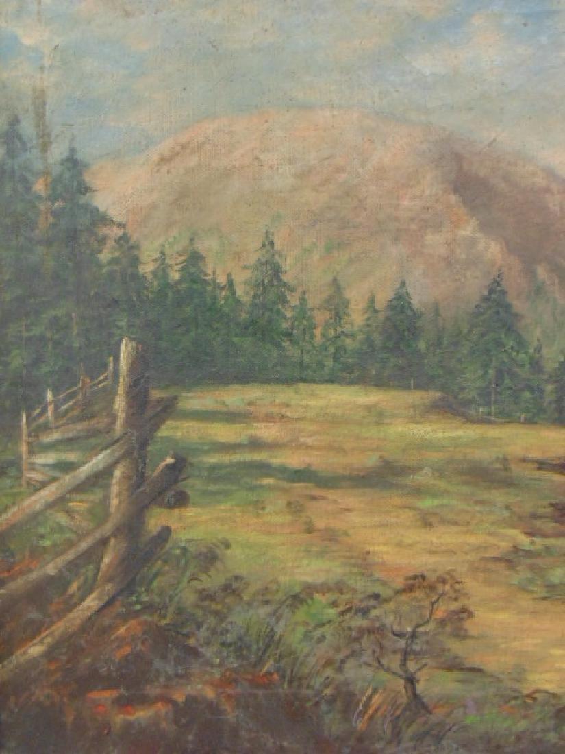 Painting, western landscape with figure on horseback - 5