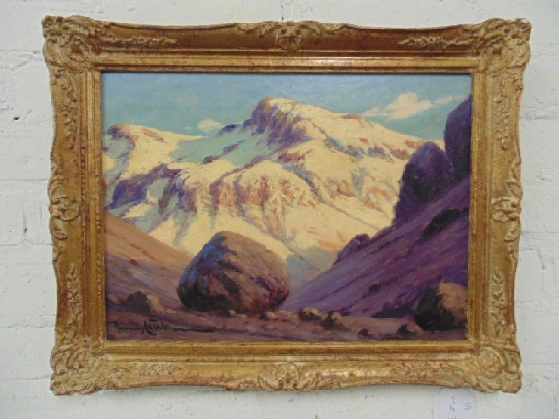 Painting, Mountain landscape, signed Ramos Catalan