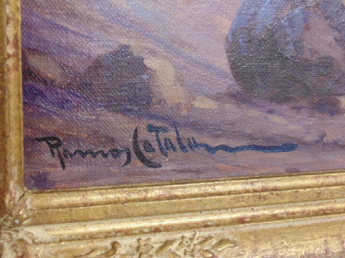Painting, Mountain landscape, signed Ramos Catalan - 3