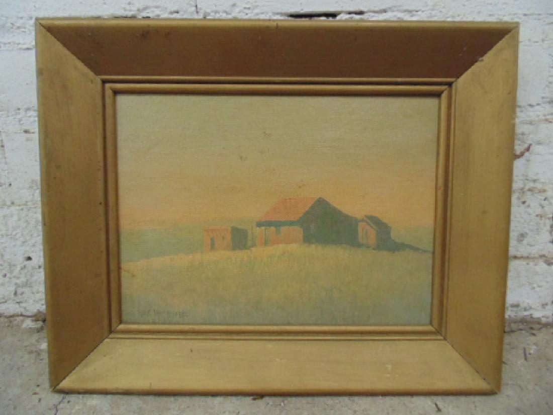 """Painting, """"Tumacacori, Arizona"""", signed Jack von Ryder"""
