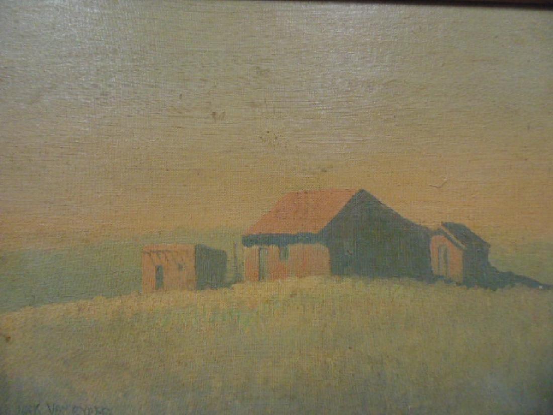 """Painting, """"Tumacacori, Arizona"""", signed Jack von Ryder - 2"""