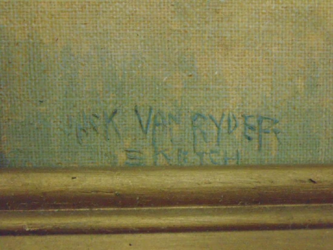 """Painting, """"Tumacacori, Arizona"""", signed Jack von Ryder - 4"""