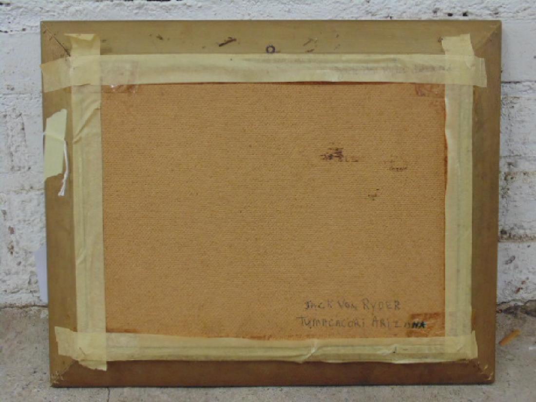 """Painting, """"Tumacacori, Arizona"""", signed Jack von Ryder - 5"""