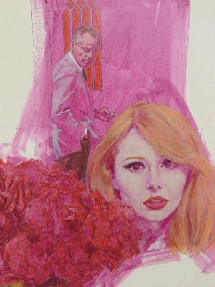 Illustration, Darrel Greene, woman with flowers, man - 2