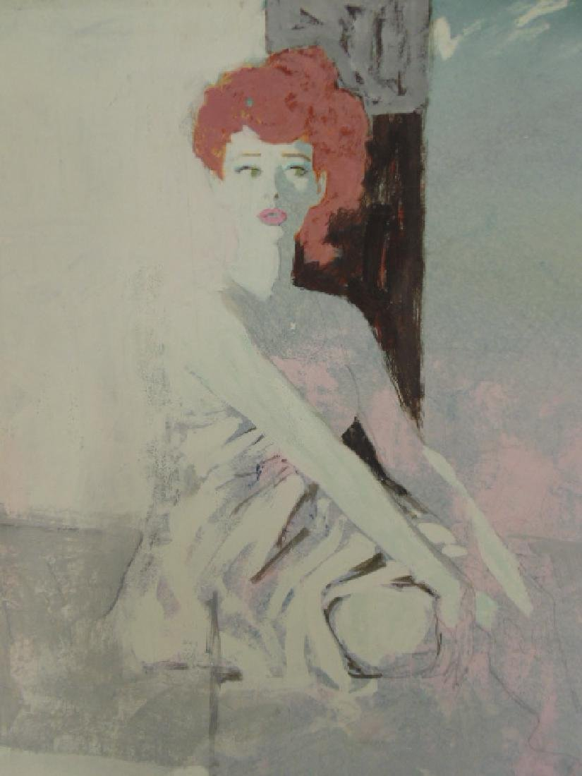 Illustration, Darrel Greene, seated woman - 3