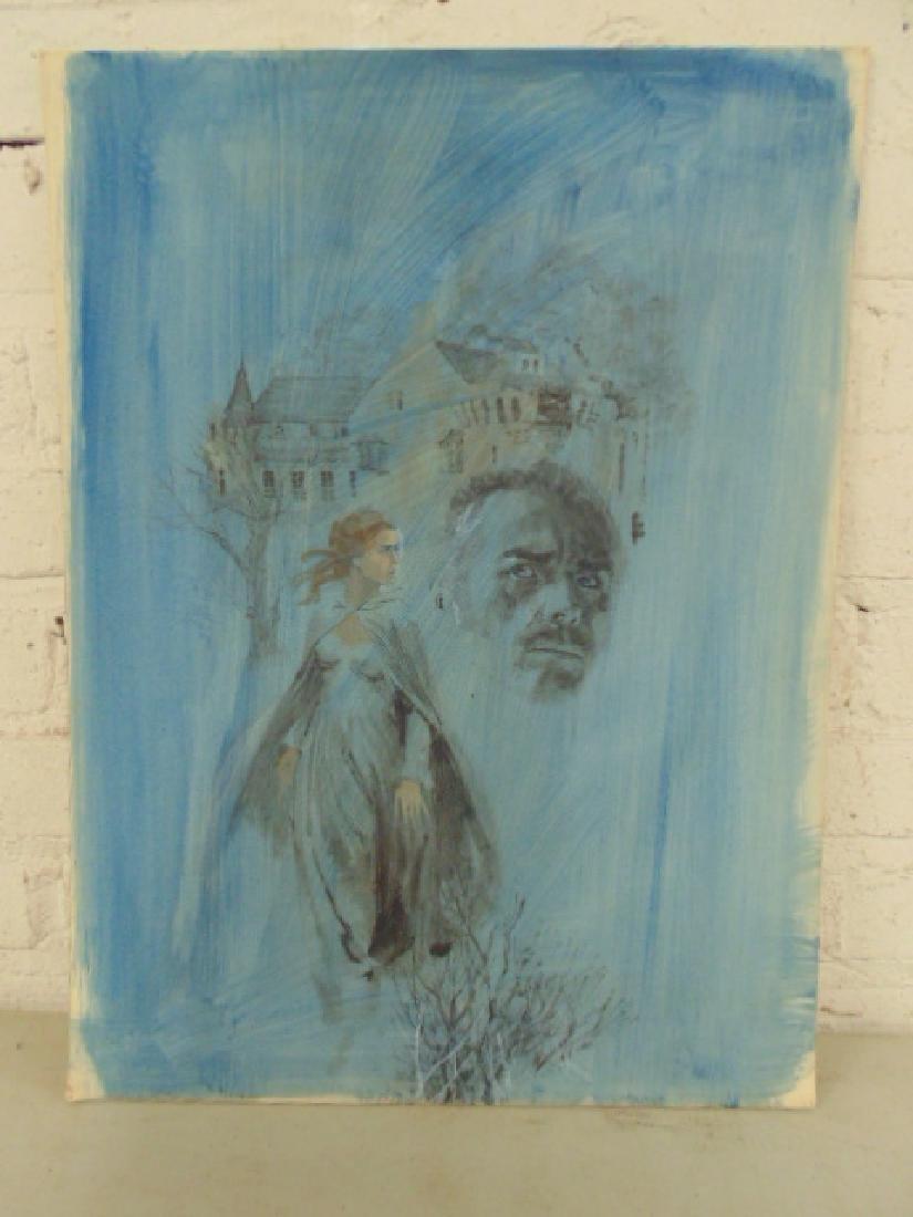 Illustration, Darrel Greene, woman walking away from