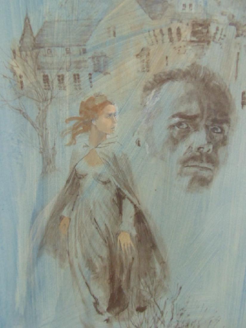 Illustration, Darrel Greene, woman walking away from - 2