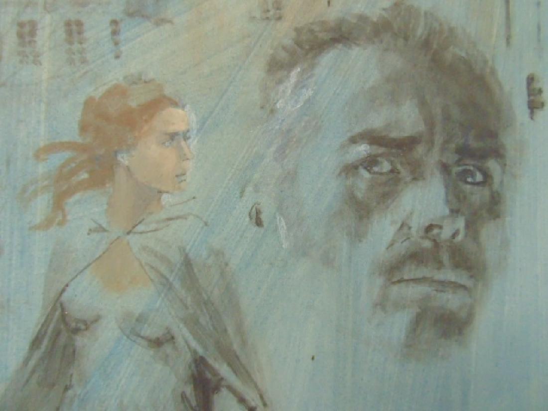 Illustration, Darrel Greene, woman walking away from - 3