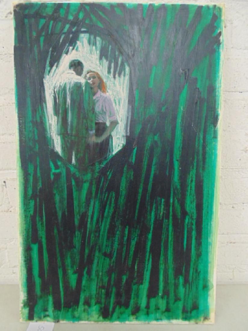 Illustration, Darrel Greene, man & woman,