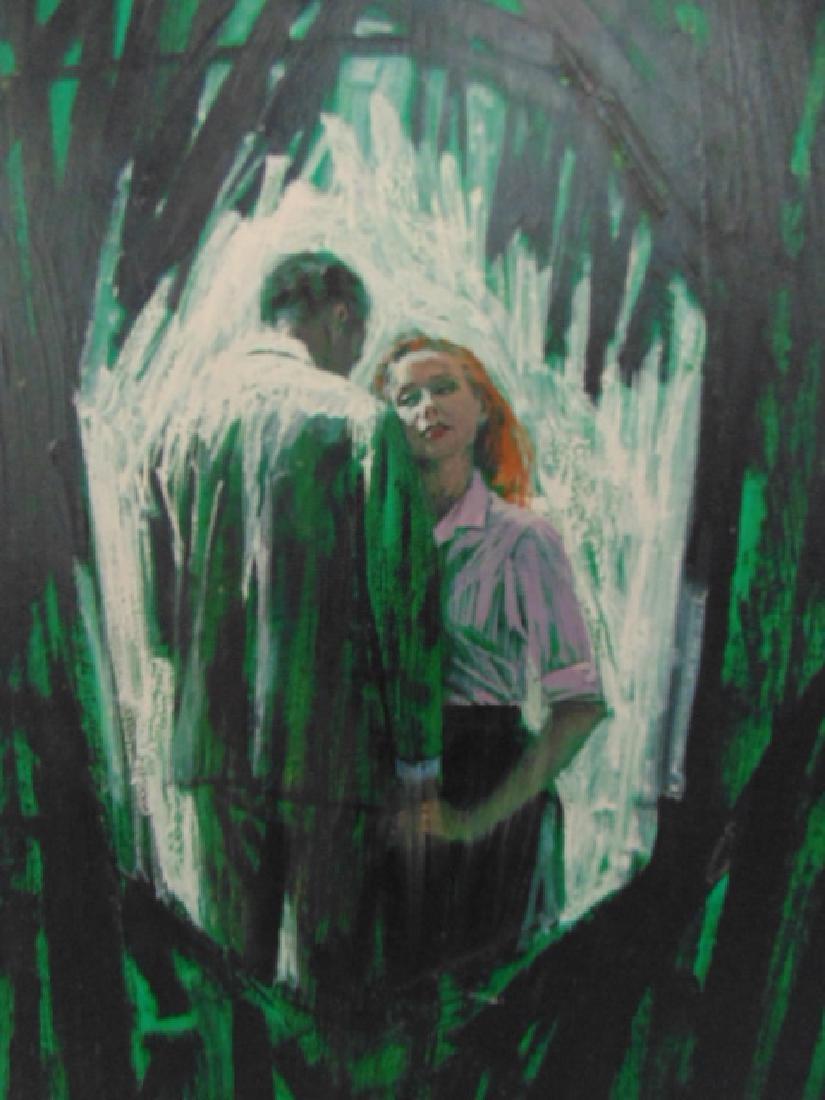 Illustration, Darrel Greene, man & woman, - 2
