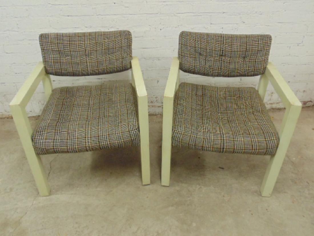Pair Mid Century armchairs by Thayer Coggin