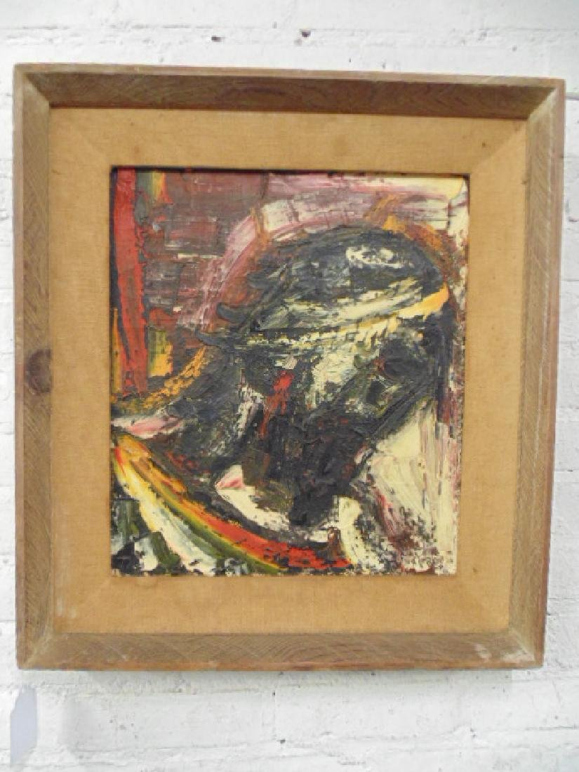 "Painting, ""Black Christ-Head"",  Joachim Probst, 1957"