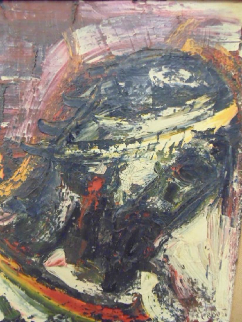 "Painting, ""Black Christ-Head"",  Joachim Probst, 1957 - 2"
