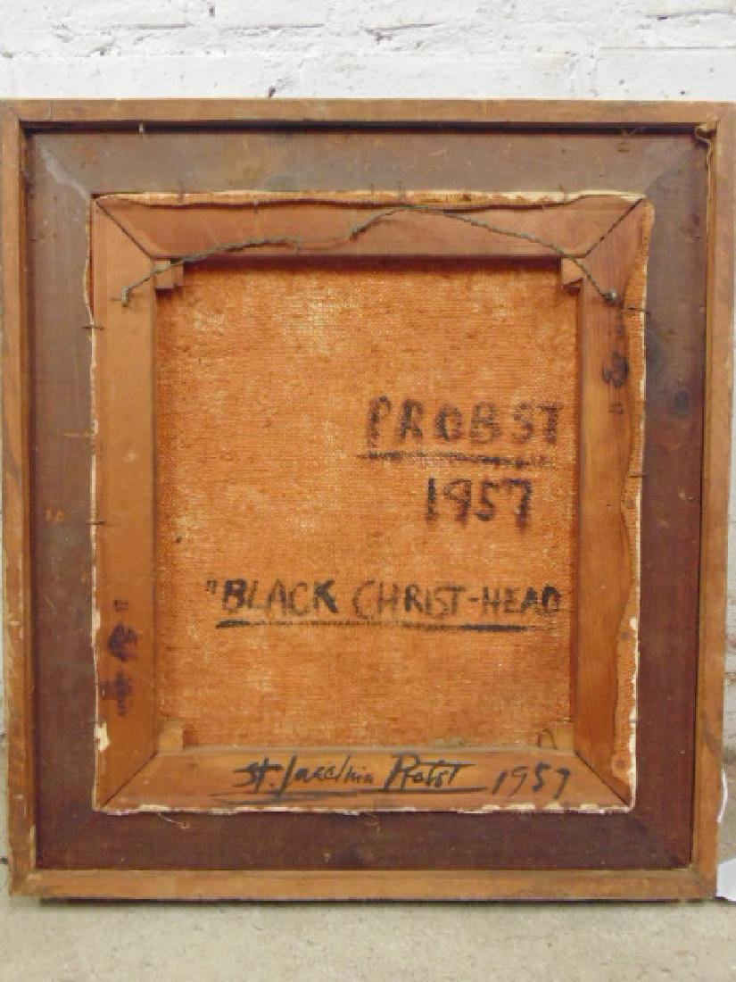 "Painting, ""Black Christ-Head"",  Joachim Probst, 1957 - 4"