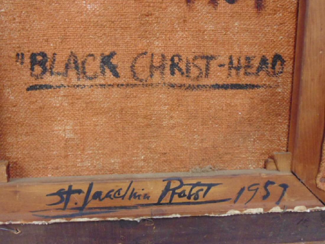 "Painting, ""Black Christ-Head"",  Joachim Probst, 1957 - 5"