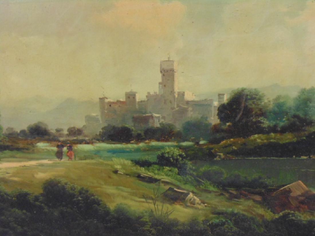 Painting, landscape with castle, signed Toni Bordignon - 2
