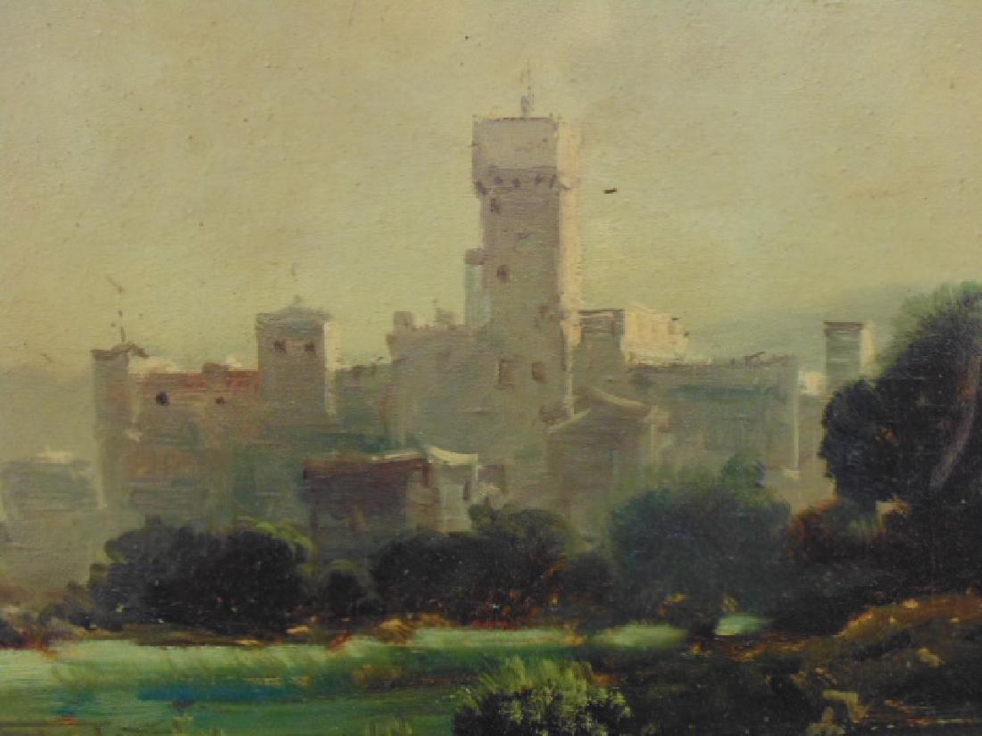 Painting, landscape with castle, signed Toni Bordignon - 3