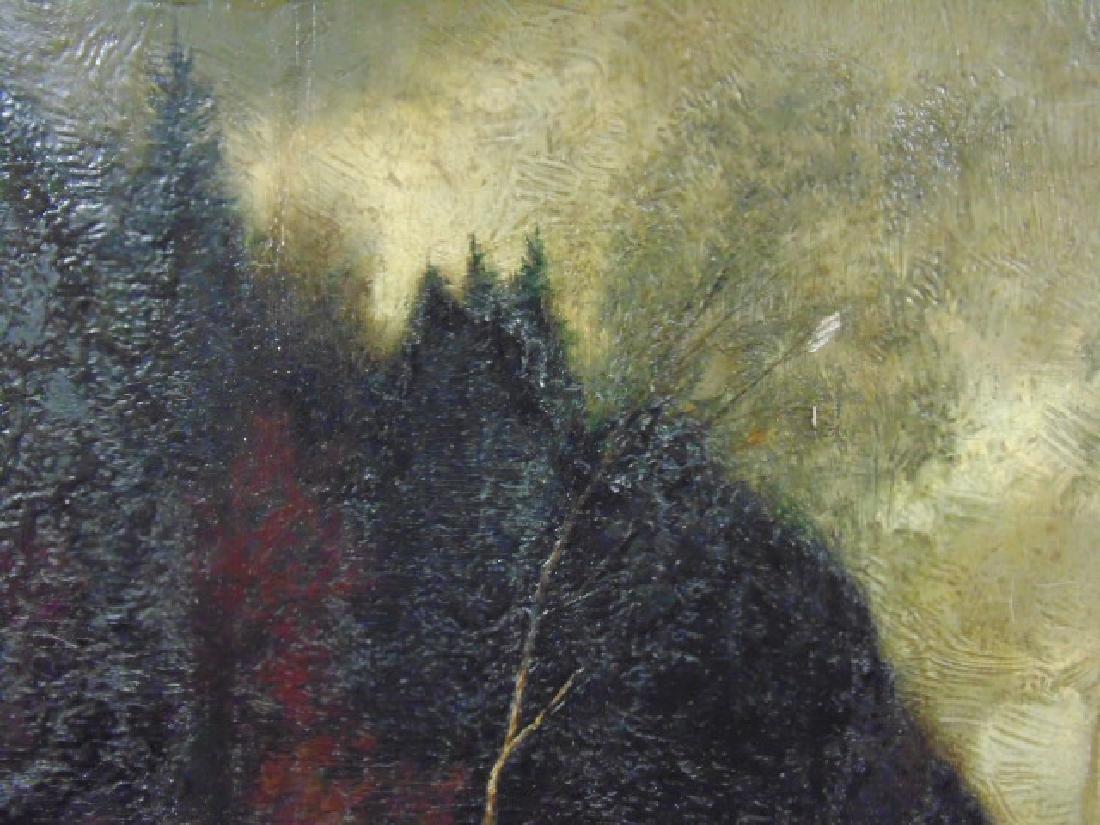 """Painting, dark landscape with deer """"Wilh. Klotz, - 3"""