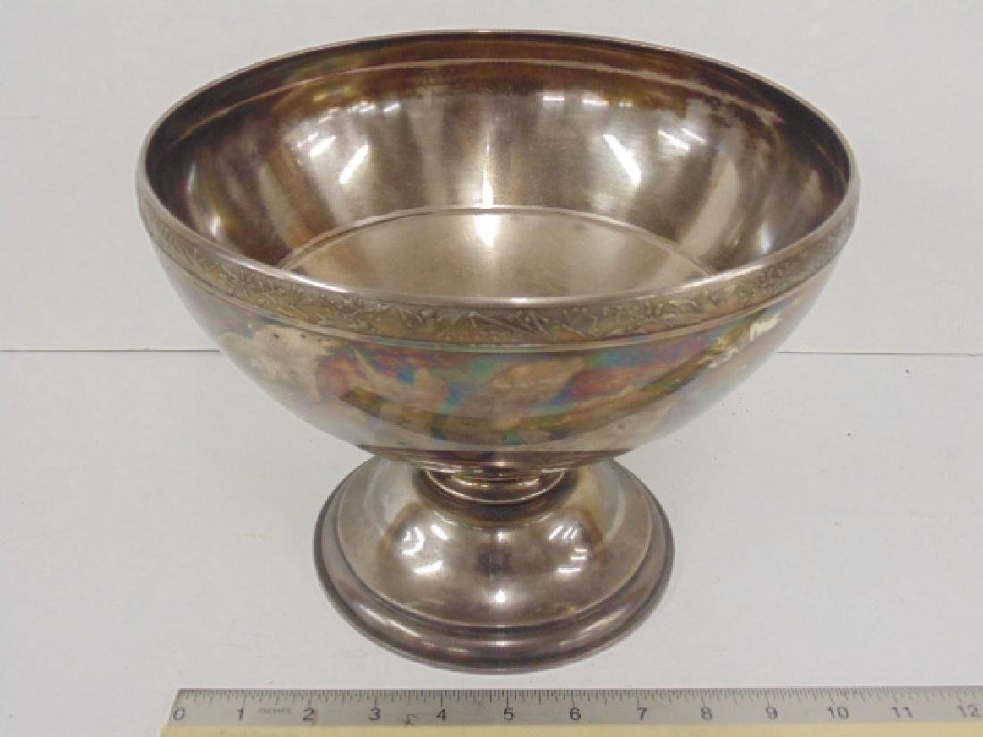 Large early sterling silver punch bowl by W & H