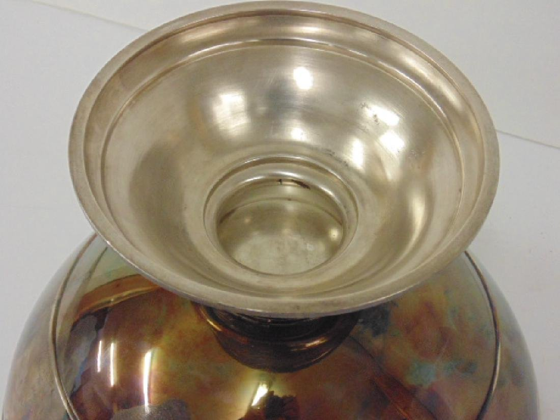 Large early sterling silver punch bowl by W & H - 5