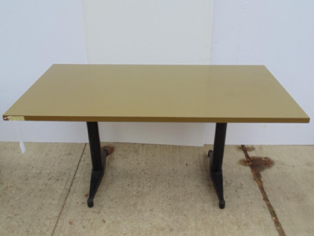Thonet table, Formica top, steel base