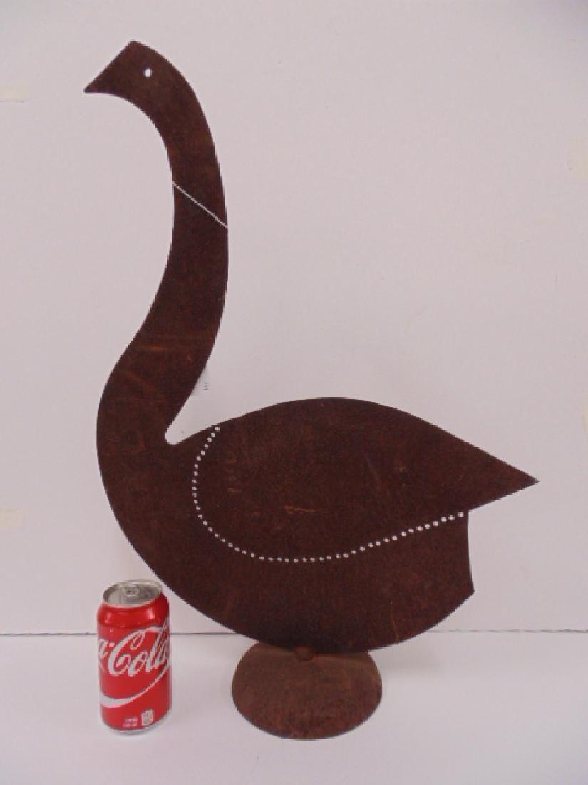 """Iron mid Century , art deco bird sculpture, 24"""""""
