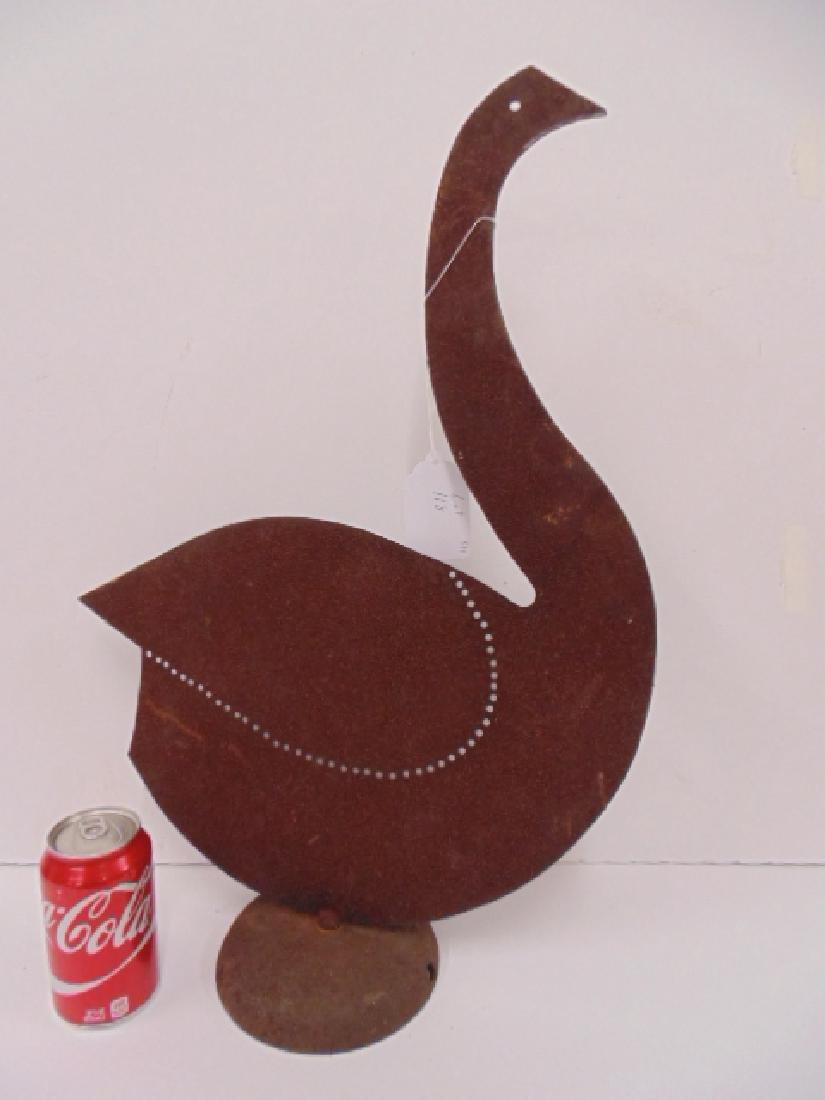 """Iron mid Century , art deco bird sculpture, 24"""" - 2"""