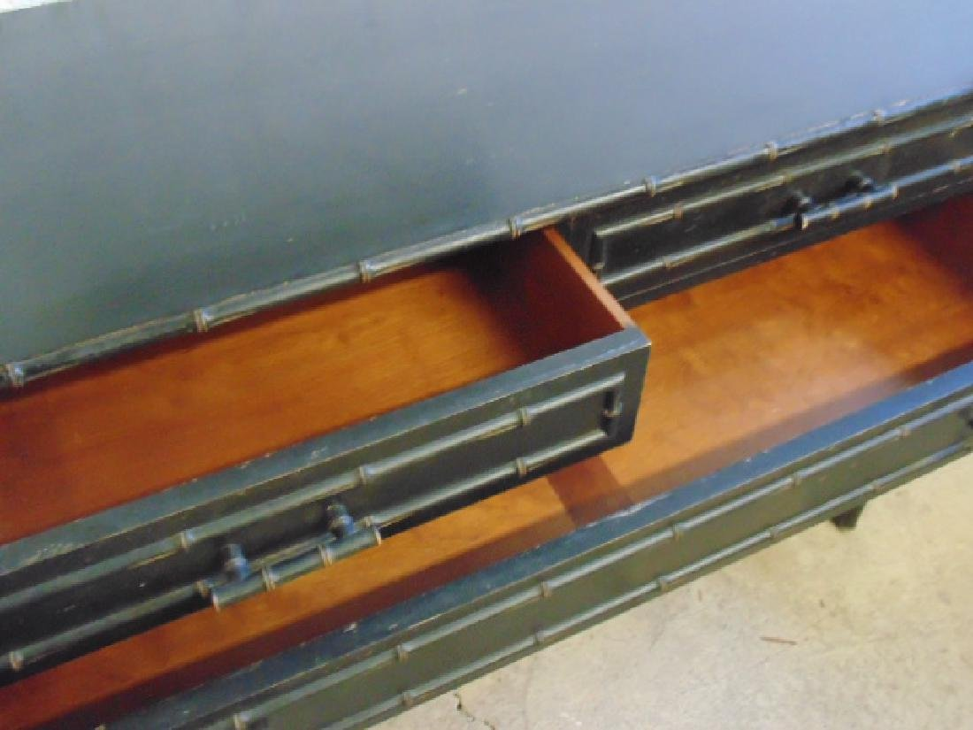 Ebonized 2 over 3 chest drawer with bamboo trim - 4