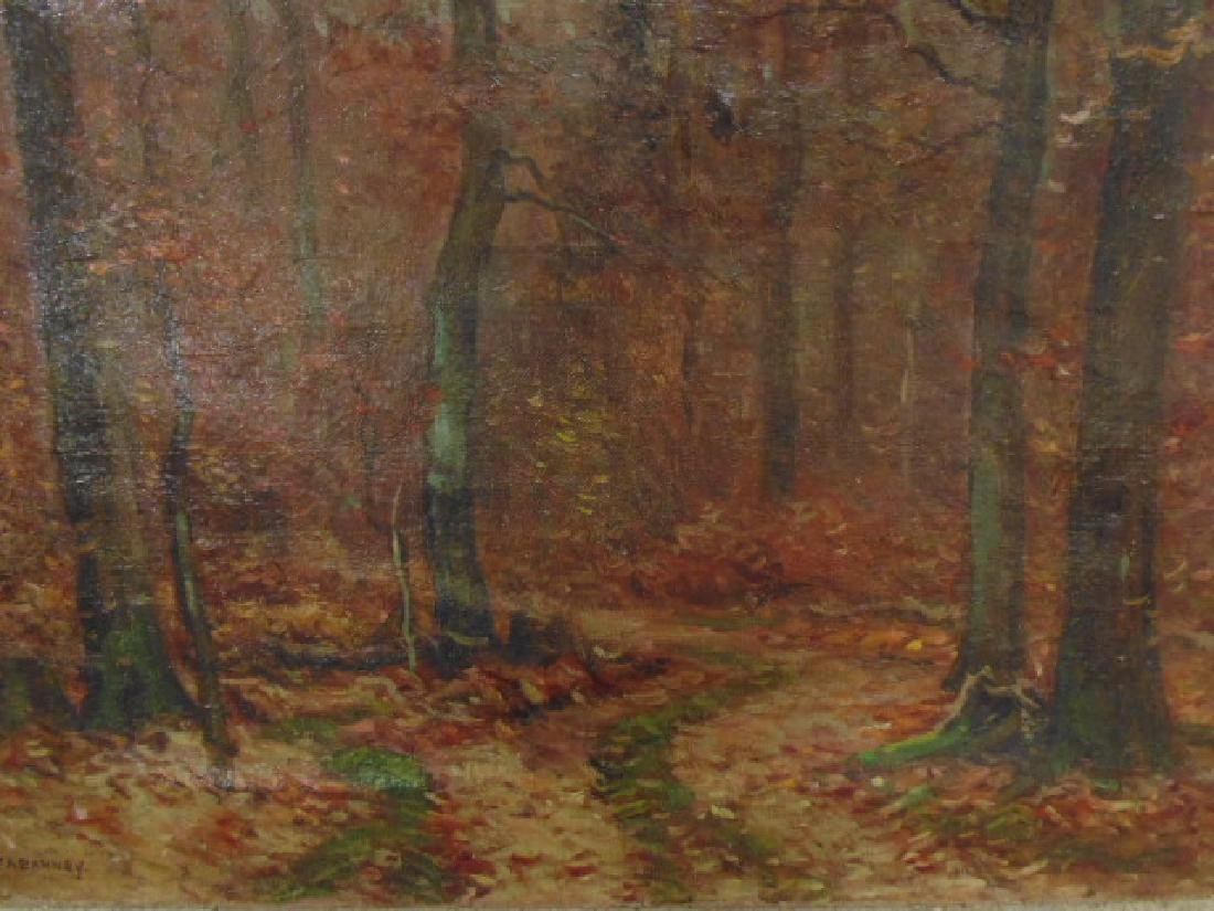 Painting, autumn landscape, trees, signed Frank A. - 2