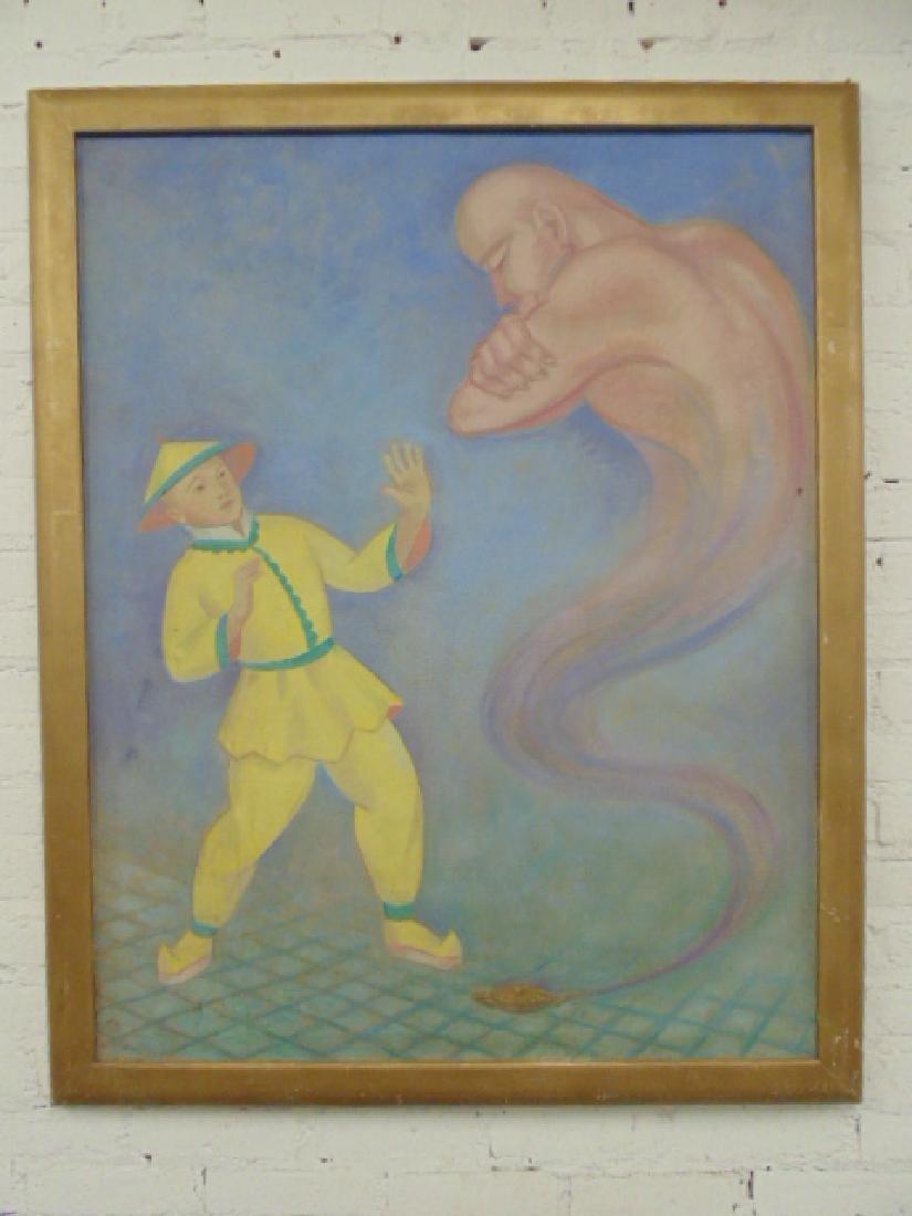 "Painting, oil on canvas, ""Aladdin"", by Joseph Zenk"